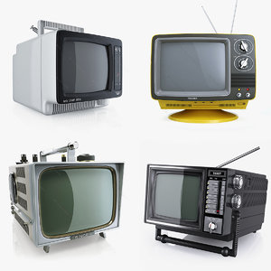 3ds max retro portable tvs