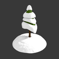cartoony christmas tree 3d obj