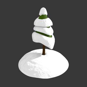 cartoony christmas tree 3d obj
