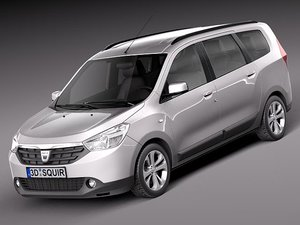dacia lodgy 2012 van 3d model