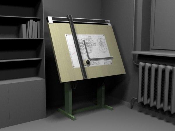 3d model drawing board