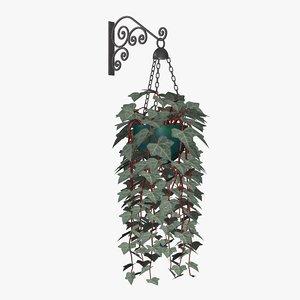 english ivy plants 3d 3ds