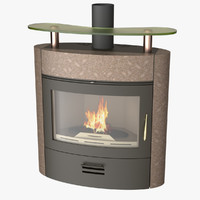 Photoreal Fireplace D