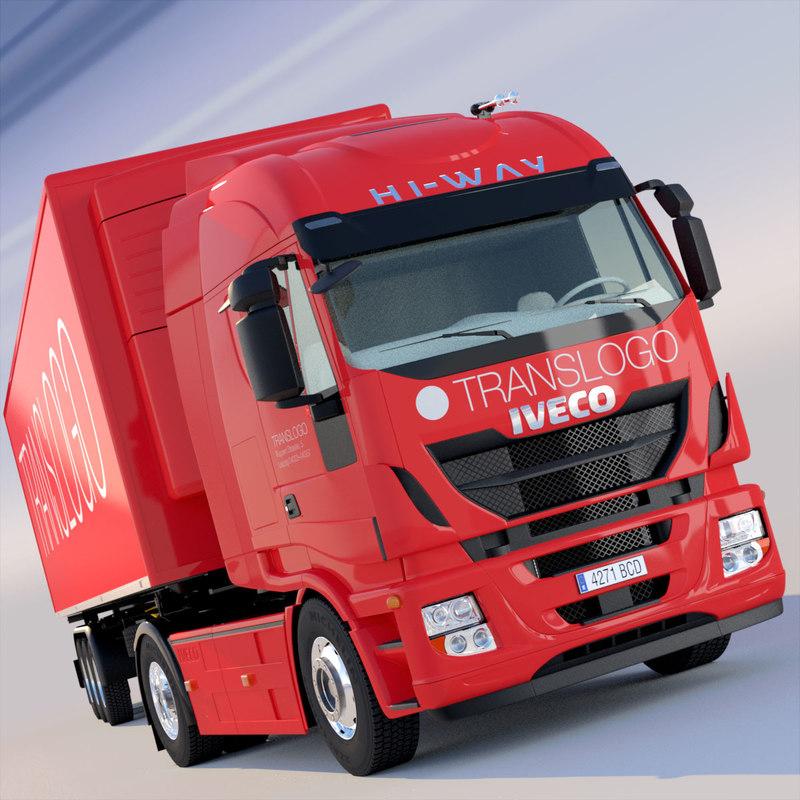 iveco hi way refrigerated 3d model