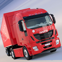 iveco hi way refrigerated 3d model