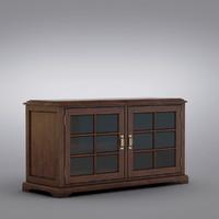 3d model pottery barn - cabinet