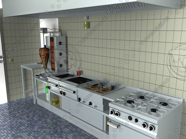 commercial kitchen 3ds