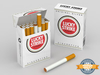 lucky strike cigarette box 3d model