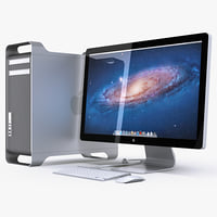 "Apple Mac Pro and LED Cinema Display 27"" flat panel"