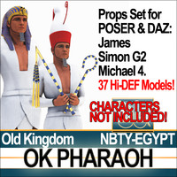Props Set Poser Daz for Ancient Egypt OK Pharaoh