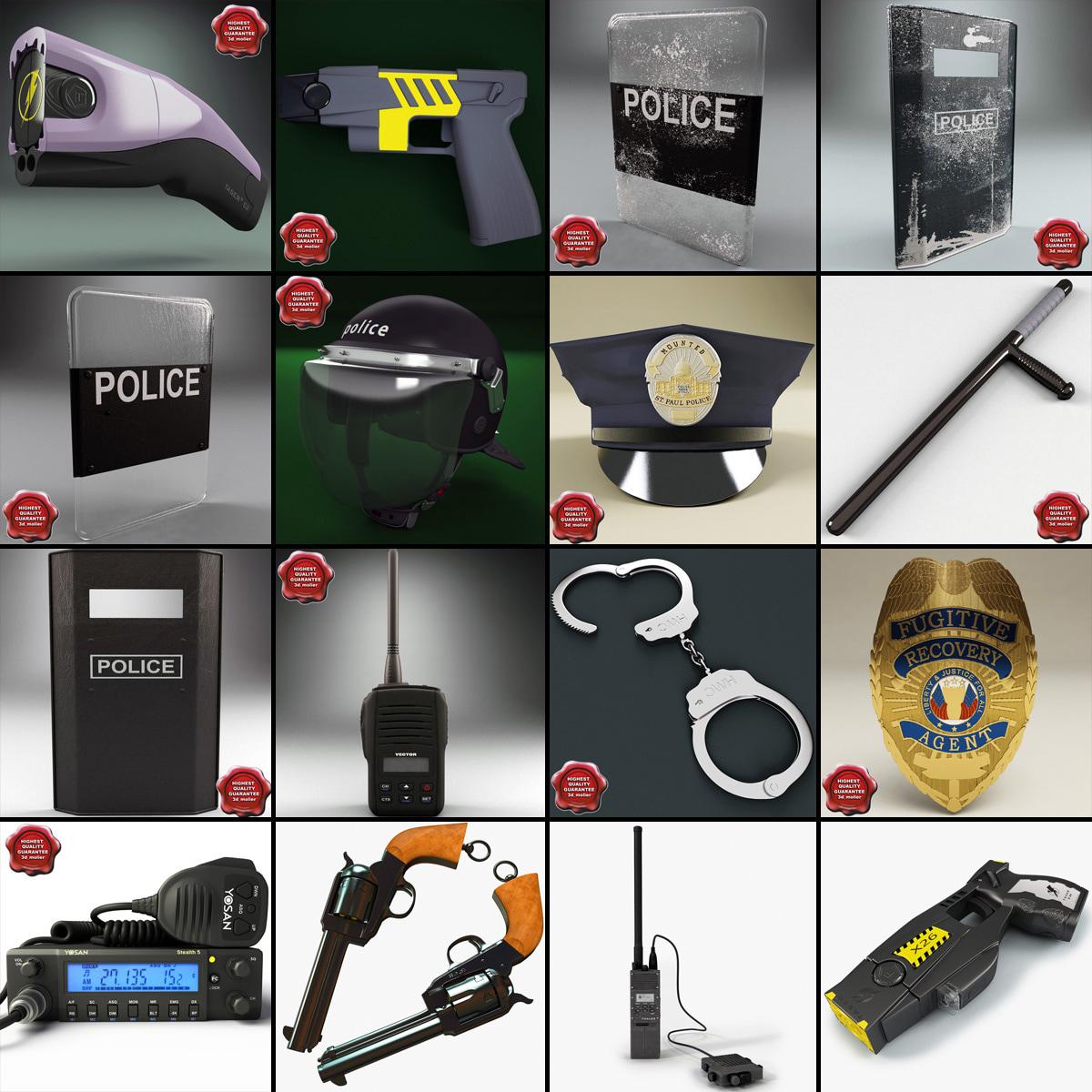 3dsmax police equipment v4