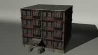 3d model urban building ready
