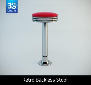 max retro backless swivel stool bar