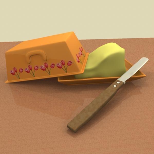 3d butter dish knife