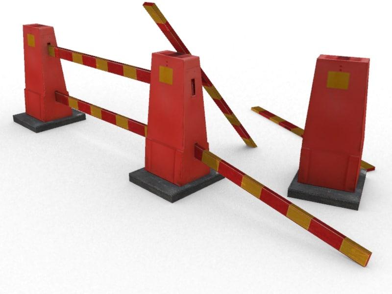 set road cones fbx