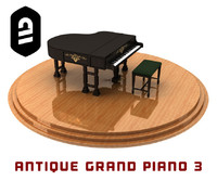Antique Grand Piano 3