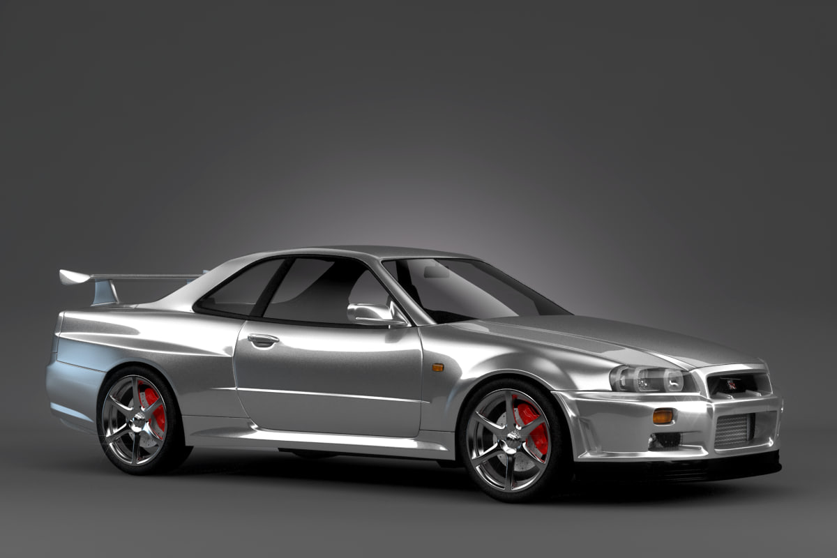 3d model nissan skyline r34. Black Bedroom Furniture Sets. Home Design Ideas