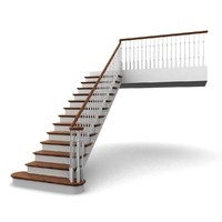 3d model wooden staircases