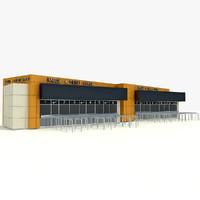 stadium ticket office 3d model