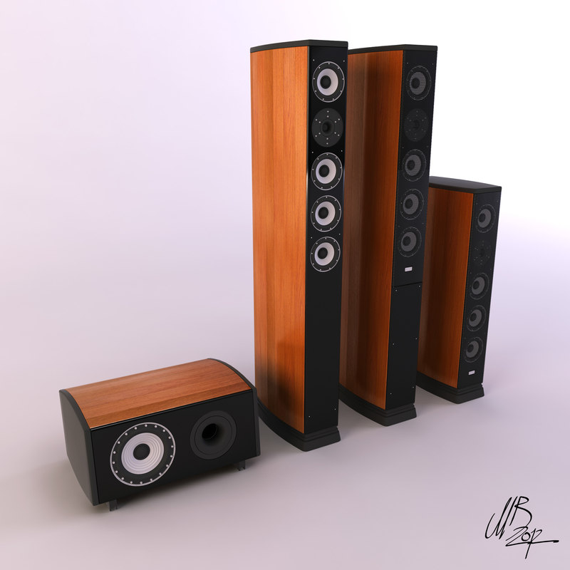 speakers modelled studio max