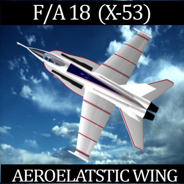 max f a-18 aeroelastic wing