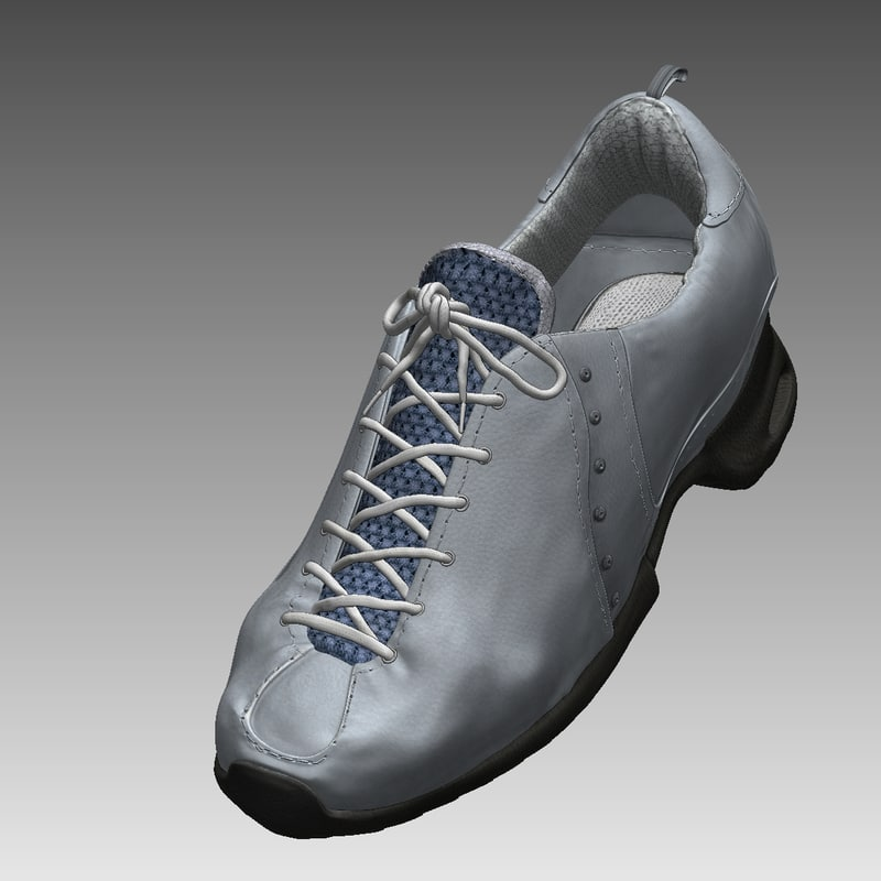 realistical male shoes 3d model