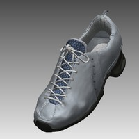 realistical male shoes 3d model