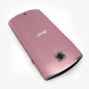 acer liquid glow pink 3d 3ds