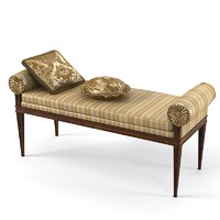 Armando Rho a 543 bench ottoman coach luxury classic