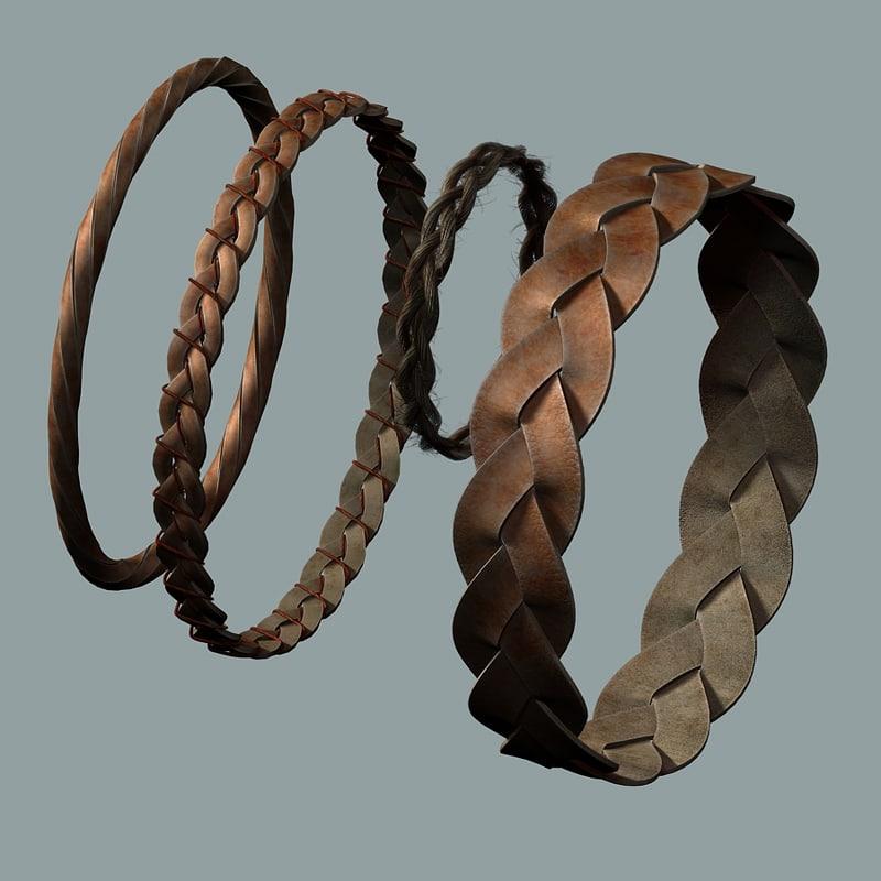 3d model woven braided