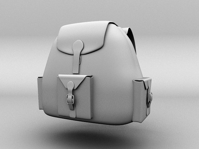 3d small backpack model