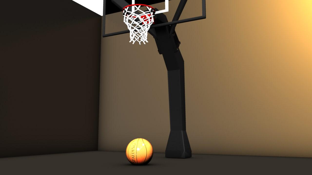 maya basketball stand ball