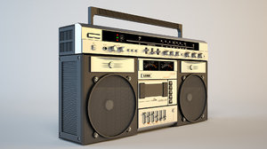 boombox boom box 3d model