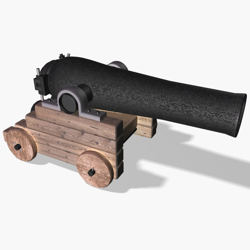 3d cannon cannonball
