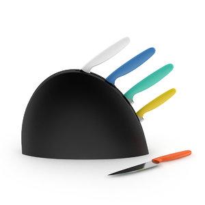 3d knives set model