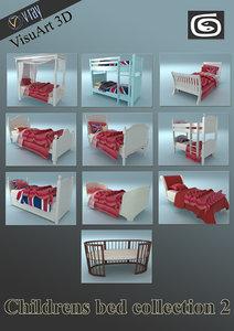 childrens beds 2 3d model