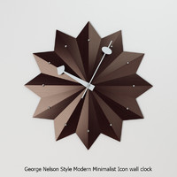 George Nelson Style Modern Minimalist Icon wall clock