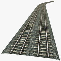 train railway railroad 3d model