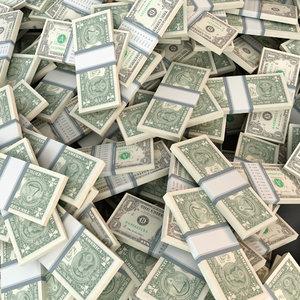 dollar bill piles max