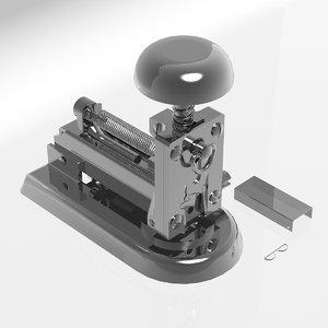 stapler grapadora 3d max
