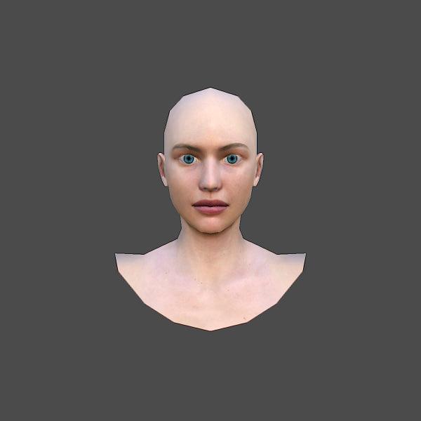 fbx realistic female head