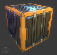 3d metal crate