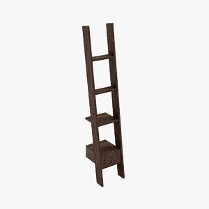 3d seyhan ladder bookcase books