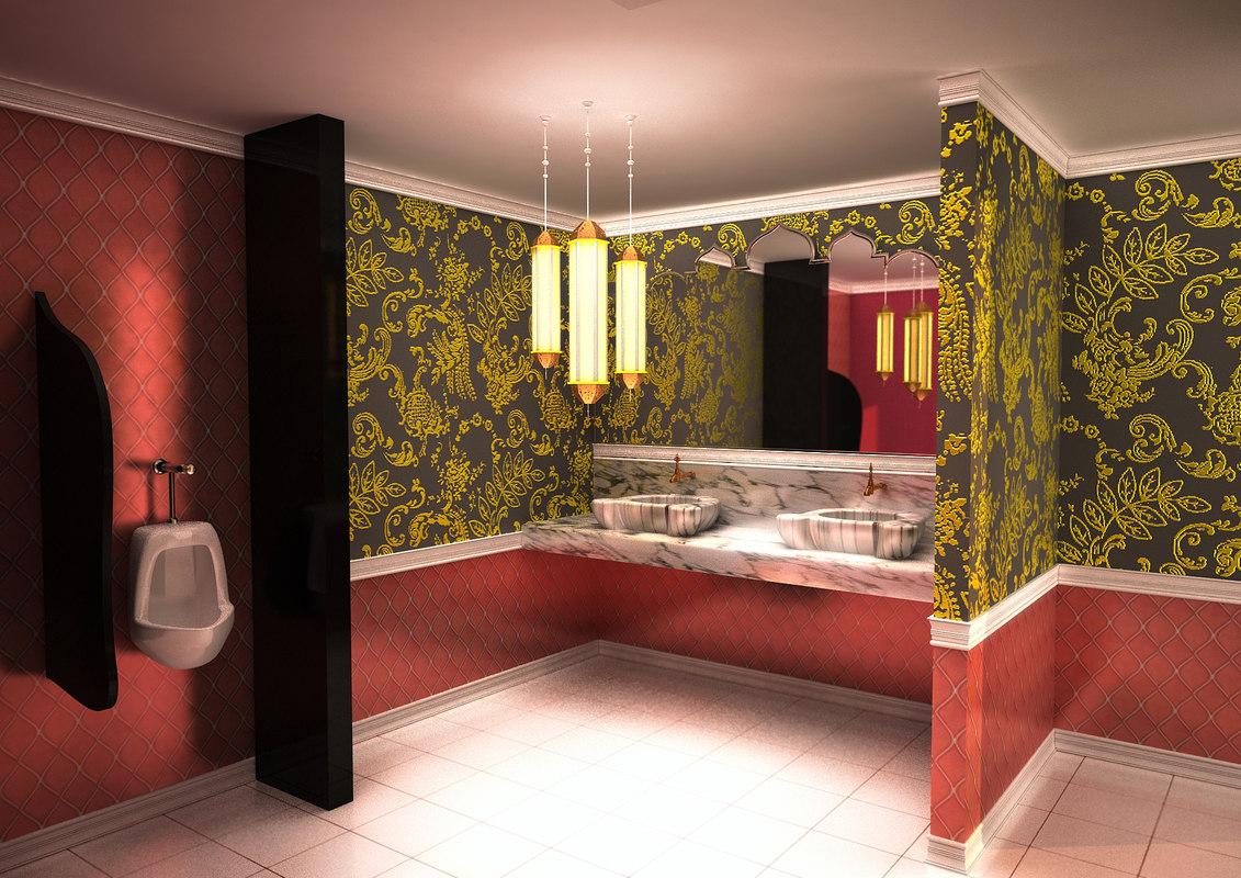 3d scene oriental toilets