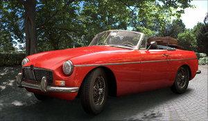 mgb car 1967 3d model