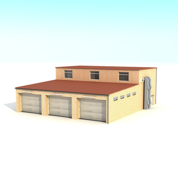 building garage 3d obj