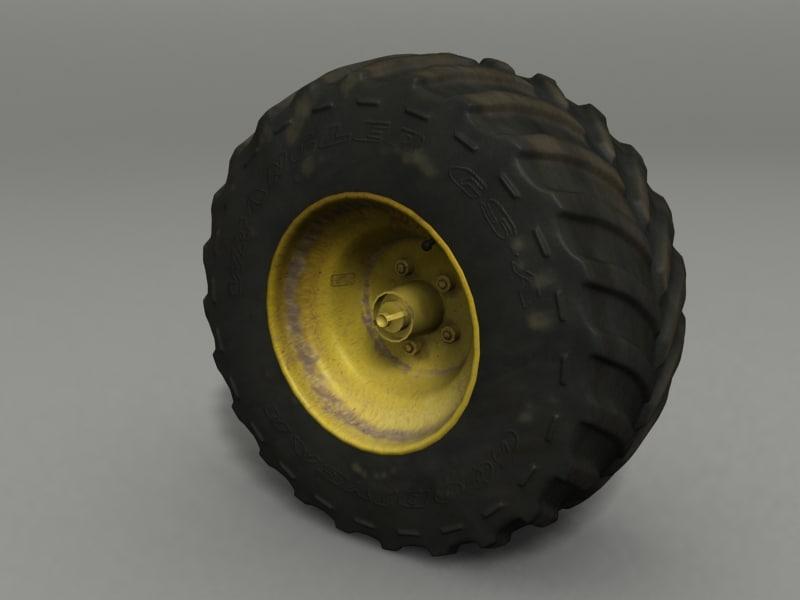 3d road wheel