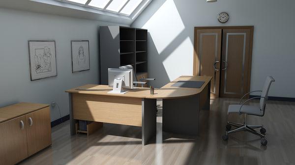 3d head office model