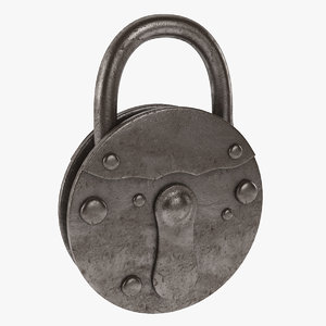 padlock lock pad 3d 3ds