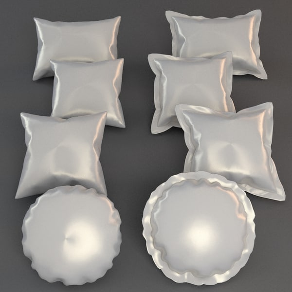 pillows 3d obj